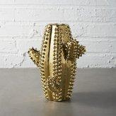 CB2 Gold Cactus Vase
