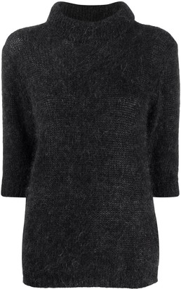 Lardini Textured Knit Short Sleeved Jumper