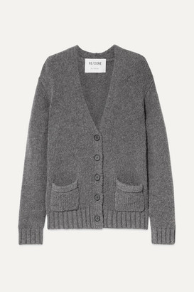 RE/DONE 90s Oversized Knitted Cardigan - Charcoal