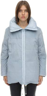 Yves Salomon Reversible Nylon & Rabbit Coat