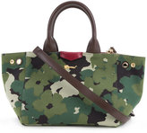 Muveil floral camouflage print tote - women - Cotton - One Size