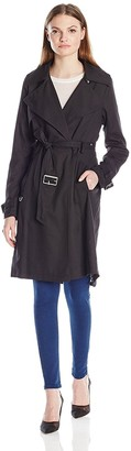 French Connection Women's Belted Wrap Trench Coat
