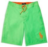 Ralph Lauren Boys' Big Pony Solid Board Shorts - Sizes S-XL