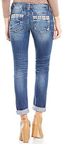 Miss Me Deco Accent Cuffed Skinny Jeans