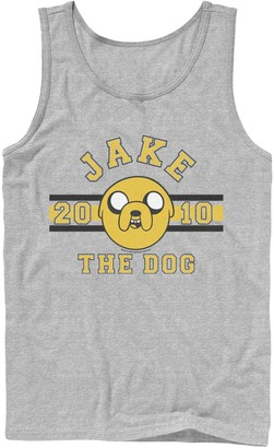 Licensed Character Men's Adventure time Jake The Dog 2010 Head Shot Graphic Tank Top