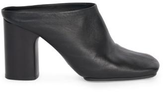 Acne Studios Bathy Square-Toe Leather Mules