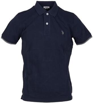 U.S. Polo Assn. Blue Pique Cotton Men's Polo Shirt