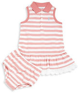Ralph Lauren Baby Girls Babys Two-Piece Drop-Waist Polo Dress and Bloomers Set