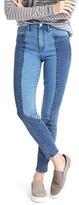 Gap STRETCH 1969 two-tone true skinny super high rise jeans