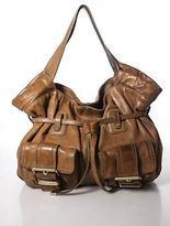 MICHAEL Michael Kors Tan Brown Leather Gold Buckle Small Shoulder Handbag