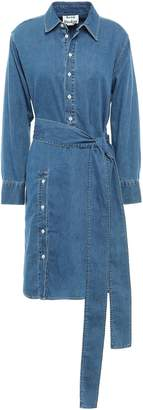 Acne Studios Belted Button-detailed Denim Shirt Dress