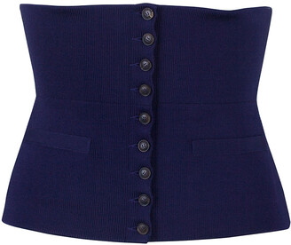 Hermes Purple Silk and Polyamide Wide Corset Belt Size EU 40