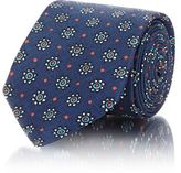 Barneys New York MEN'S FLORAL- & DOT-PRINT SILK NECKTIE-NAVY SIZE NA