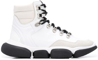 Moncler Leather Sneaker Boots