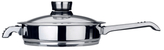 Berghoff 10'' Invico Vitrum Stainless Steel Covered Skillet