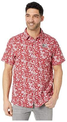 Columbia College Alabama Crimson Tide CLG Super Slack Tidetm Shirt (Red Velvet) Men's Clothing