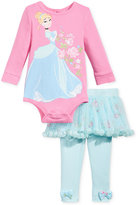 Nannette 2-Pc. Cinderella Bodysuit & Tutu Leggings Set, Baby Girls (0-24 months)