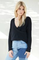 La Hearts Surplice Pullover Sweater