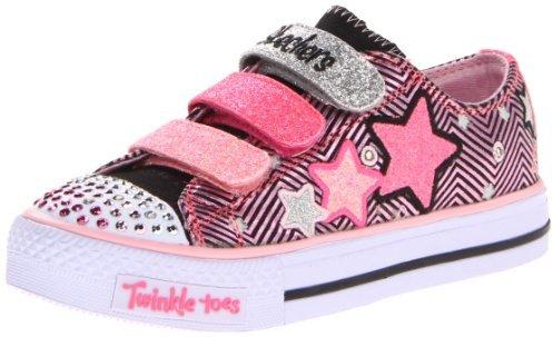Skechers 10249L TWINKLE TOES - S LIGHTS - Shuffles - Triple Up Lighted Sneaker (Little Kid)