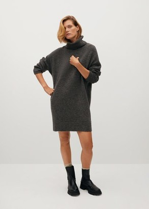 MANGO Turtle neck knit dress