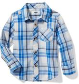 Old Navy Plaid Poplin Shirt for Toddler