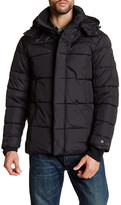 Ben Sherman Quilted Long Sleeve Hooded Jacket