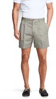 "Classic Men's 6"" Pleat Front No Iron Chino Shorts-Light Stone"