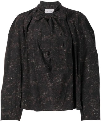 Lemaire Pussy Bow Silk Blouse