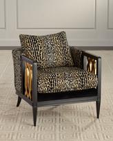 John-Richard Collection John Richard Collection Lucio Leopard Club Chair