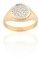 Geometry Boys Circle White Diamond Ring
