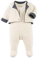 Petit Bateau Baby boys cardigan and pyjamass set