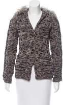Lanvin Shearling-Trimmed Wool Jacket