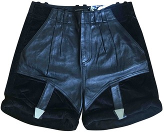 Alexander Wang Black Leather Shorts