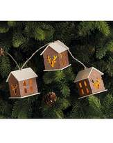 Fashion World Wooden House String Lights