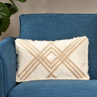 Bungalow Rose Concorida Boho Cotton Throw Pillow Cover