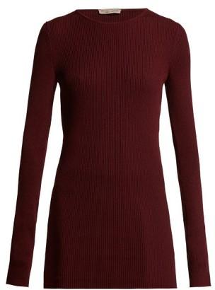 Bottega Veneta Intrecciato-tab Cashmere Sweater - Womens - Burgundy