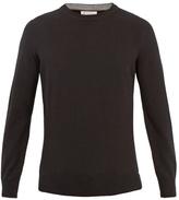 Brunello Cucinelli Crew-neck Wool-bend Knit Sweater