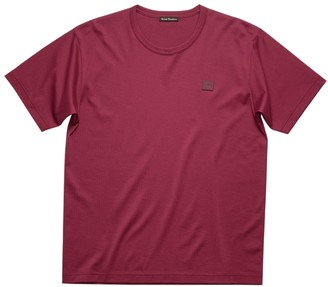 Acne Studios Classic Cotton Logo T-shirt Dark Pink