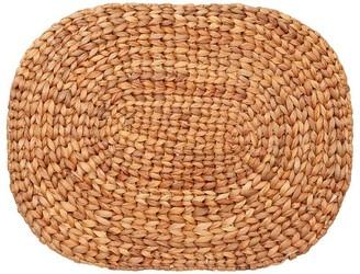 Indigo Natural Oval Woven Placemat