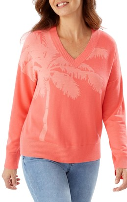 Tommy Bahama Courtside Palm V-Neck Sweater