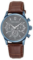 Vince Camuto Analog Asia Stainless Steel Genuine Leather Strap Watch