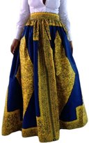 Dearlovers Vintage Summer Colorful Print High Waist Long Skirt X-Large