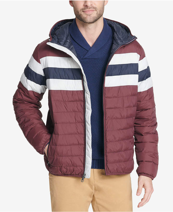 9fb26c53a Men Big & Tall Colorblocked Hooded Ski Coat