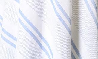 Sandra Darren Short Sleeve Surplice Linen Midi Dress