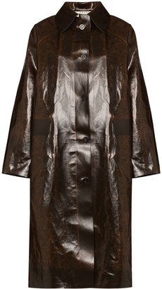 Kassl Editions Skai button down trench coat