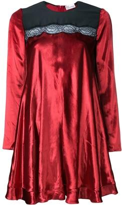 RED Valentino Lace Panel Mini Dress