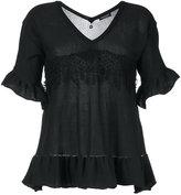 Twin-Set shortsleeved flared sweater - women - Cotton - S