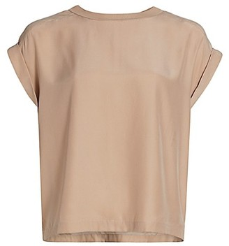 Frame Oversized Silk T-Shirt
