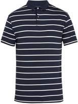 Derek Rose Alfie striped jersey polo shirt
