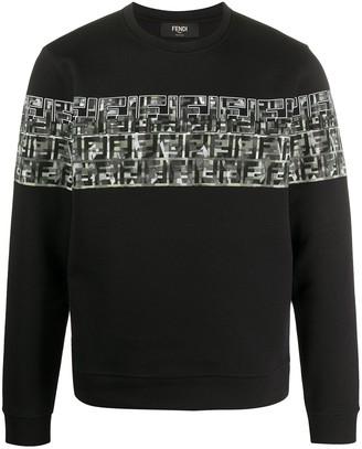 Fendi camouflage FF sweatshirt